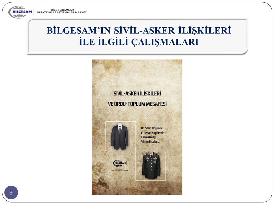 74  Osmanlı'nın son döneminde (1876-1918) zayıflayarak yok olma noktasına gelen sivil denetim, Cumhuriyet'ten itibaren, asker kökenli devlet adamları eliyle de olsa tesis edilebilmiştir.