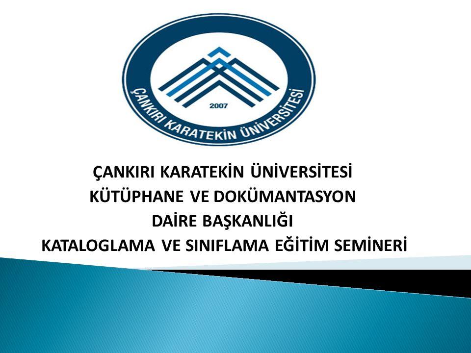 Türkçe kayıtlar Fiziksel niteleme x, 370 s.: rnk.