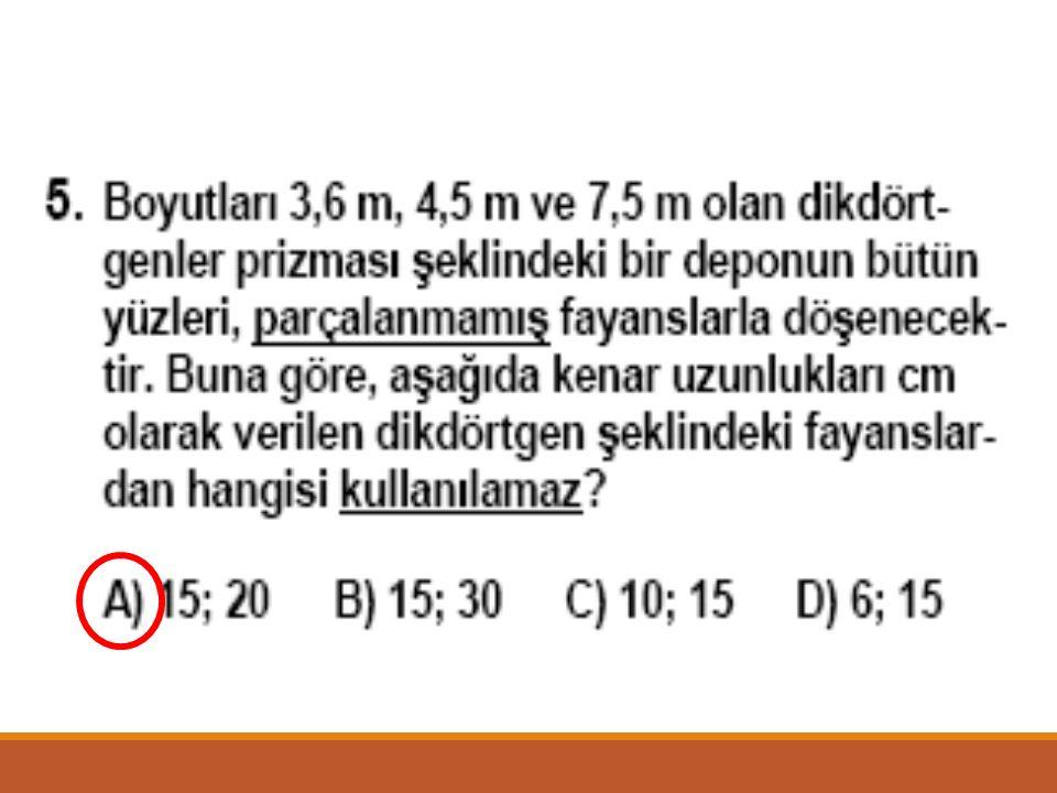ÇÖZÜM = Ardışık iki sayma sayısı aralarında asaldır. (a,b) = 1 (a,b) = a.b dir. a.b = 420 20 21 Olduğundan dolayı küçük sayı 20 dir. Doğru cevap B seç