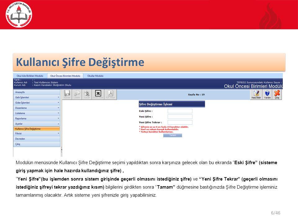 7/46 Fihrist 23451 Kullanmakta olduğunuz modülün ana ekran görüntüsünden Fihrist işlemi seçilir ve Kişiler kategorisi işaretlenir.