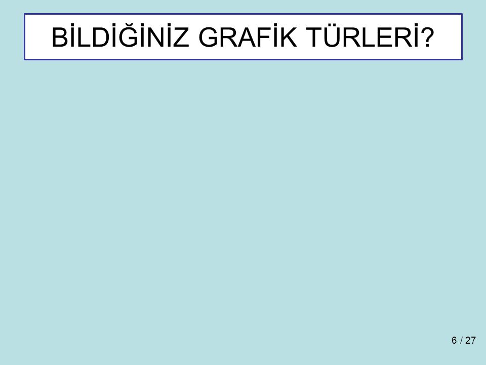 BİLDİĞİNİZ GRAFİK TÜRLERİ? / 276