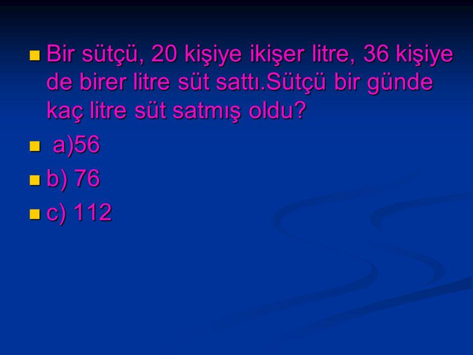Bir çıkarma işleminde çıkan 65, fark ise 27'dir.Eksilen sayı kaçtır? Bir çıkarma işleminde çıkan 65, fark ise 27'dir.Eksilen sayı kaçtır? a) 92 a) 92