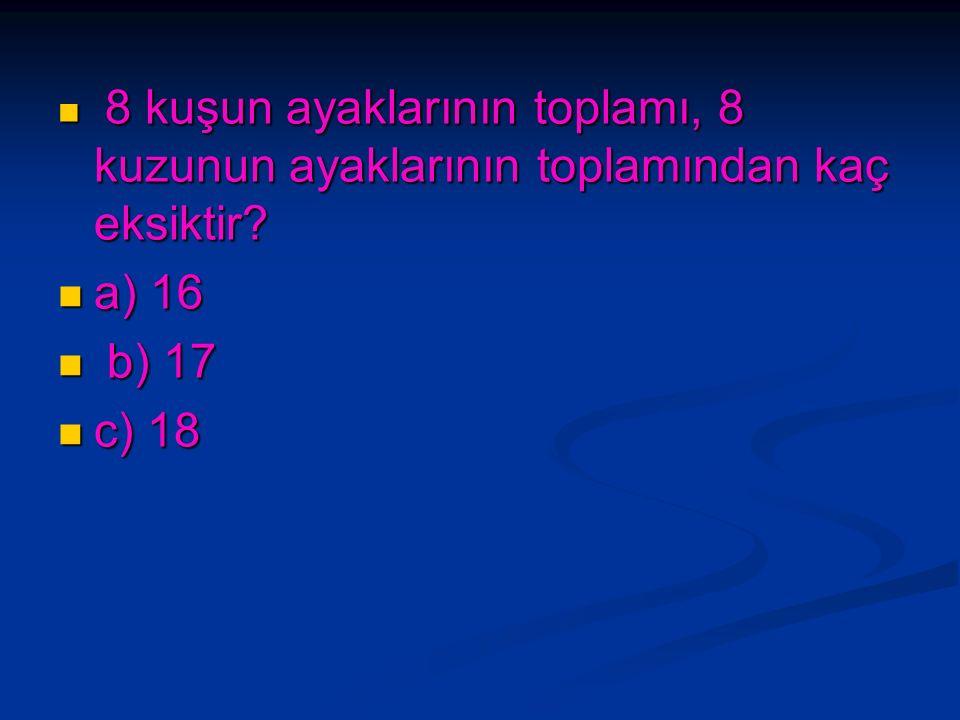 Hangi sayının 10 fazlasının yarısı 15 eder? Hangi sayının 10 fazlasının yarısı 15 eder? a) 20 a) 20 b) 25 b) 25 c) 30 c) 30