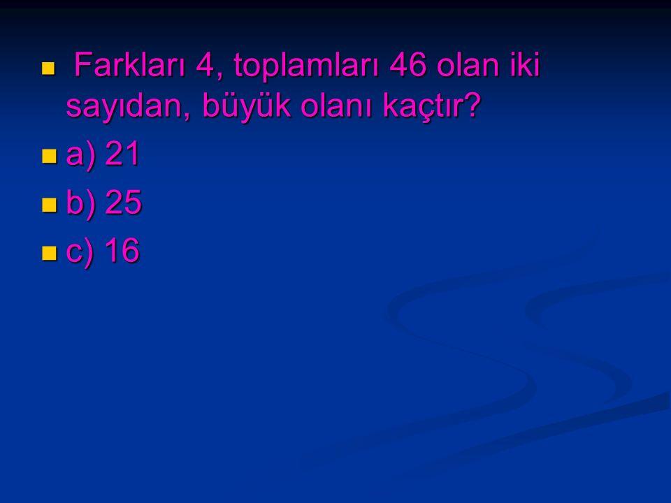 1/4 ' ü 12 eden sayının 10 katı kaç eder? 1/4 ' ü 12 eden sayının 10 katı kaç eder? a) 480 a) 480 b) 240 b) 240 c) 120 c) 120