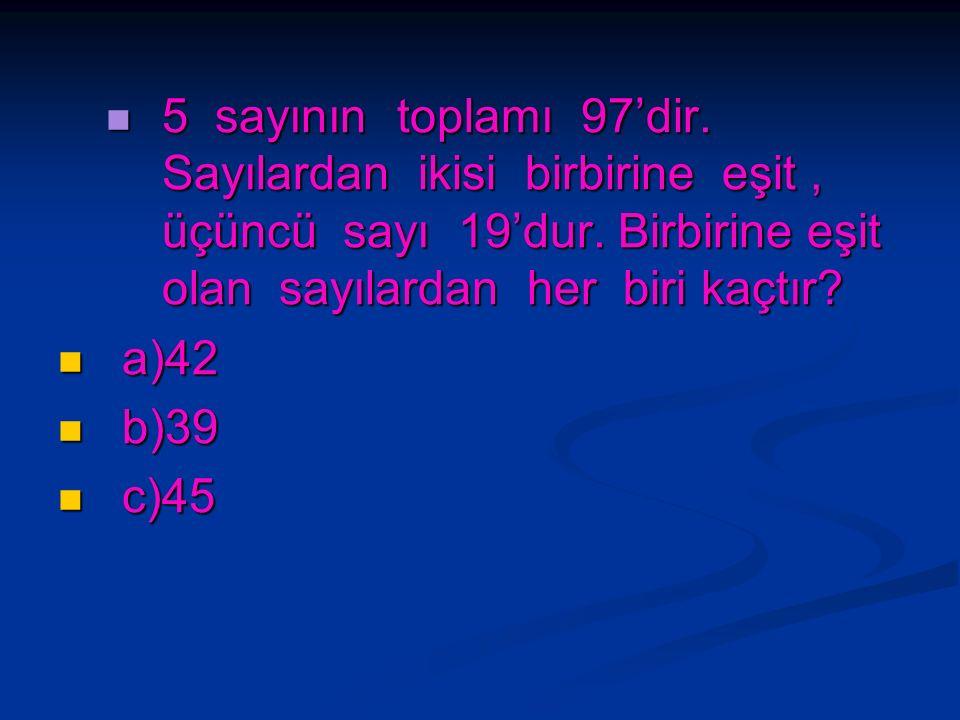 Bir sayının 7 katı ile 3 katı arasındaki fark 64'tür. Bu sayı kaçtır? Bir sayının 7 katı ile 3 katı arasındaki fark 64'tür. Bu sayı kaçtır? a)16 a)16