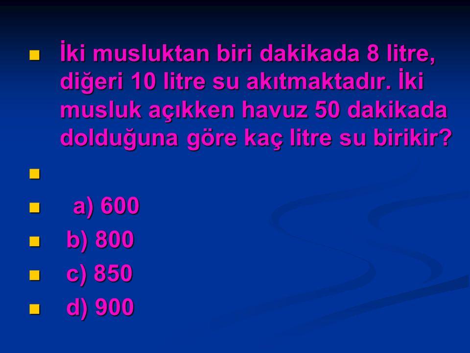 Nida ile Seda'nın paraları toplamı 800 liradır.