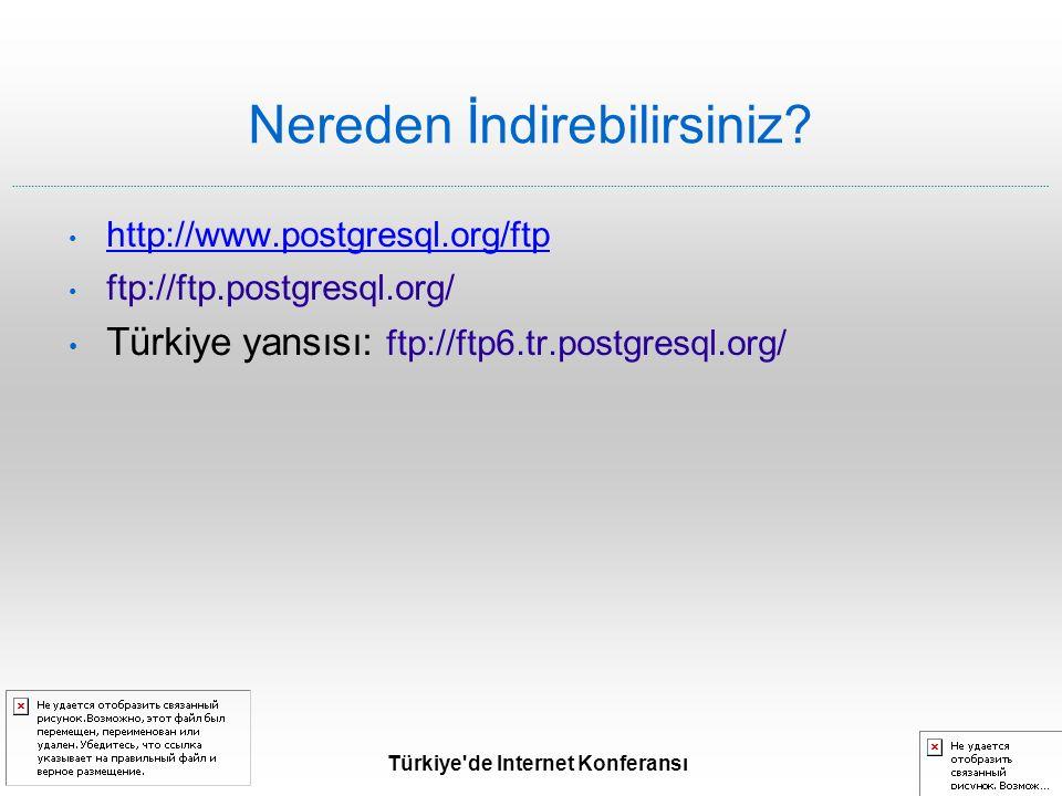 Türkiye de Internet Konferansı Nereden İndirebilirsiniz.