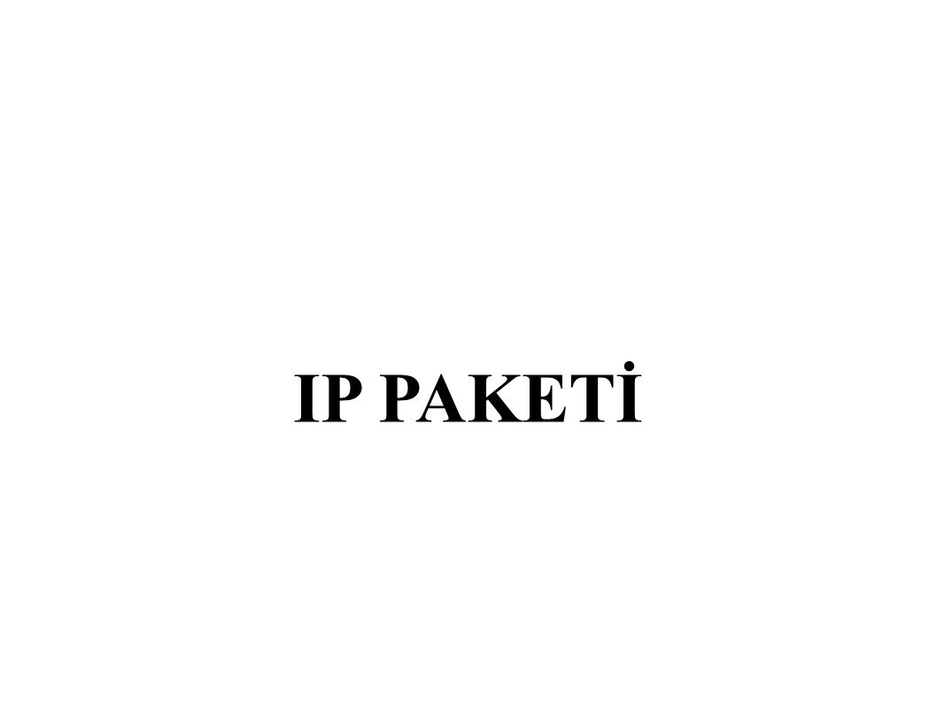 Fragment Offset ● 13 bit uzunluğundadır.