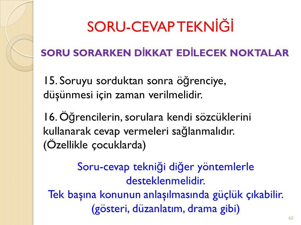 SORU-CEVAP TEKN İĞİ 11.