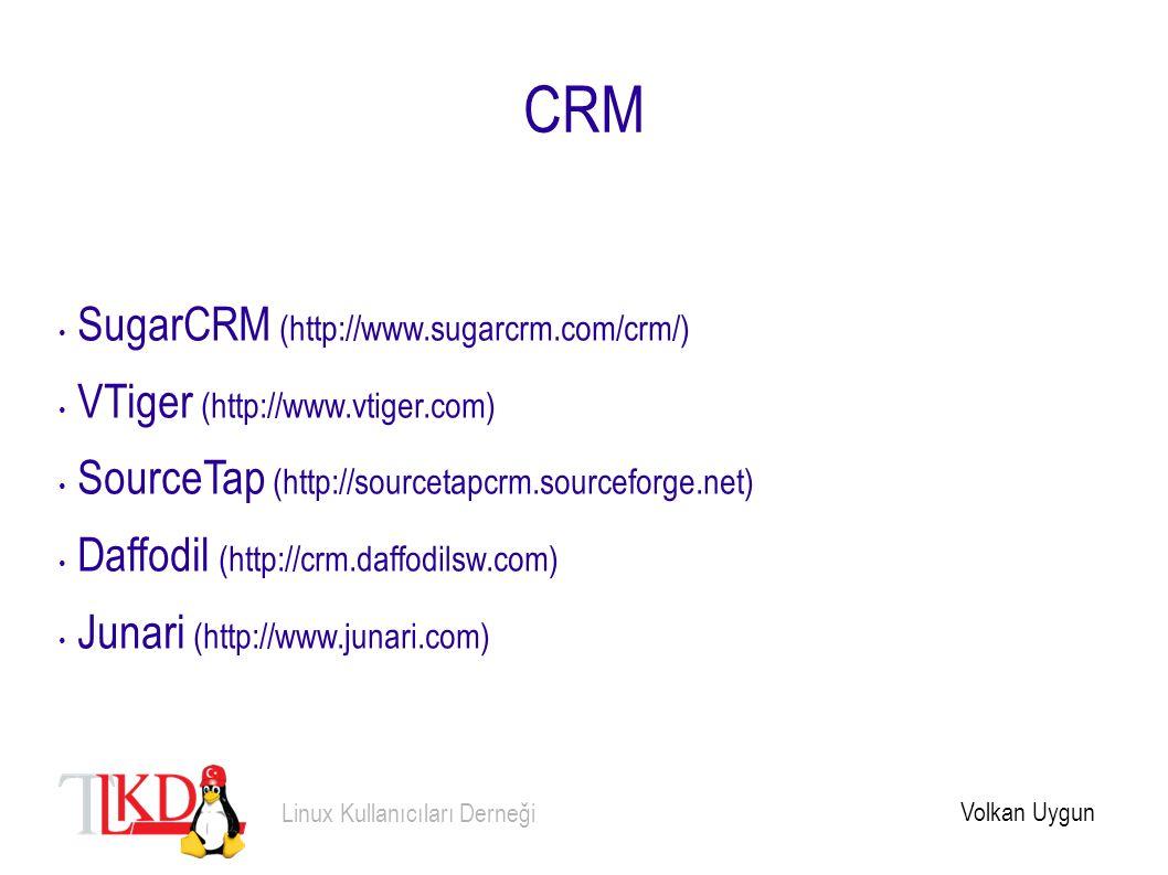 CRM SugarCRM (http://www.sugarcrm.com/crm/) VTiger (http://www.vtiger.com) SourceTap (http://sourcetapcrm.sourceforge.net) Daffodil (http://crm.daffod