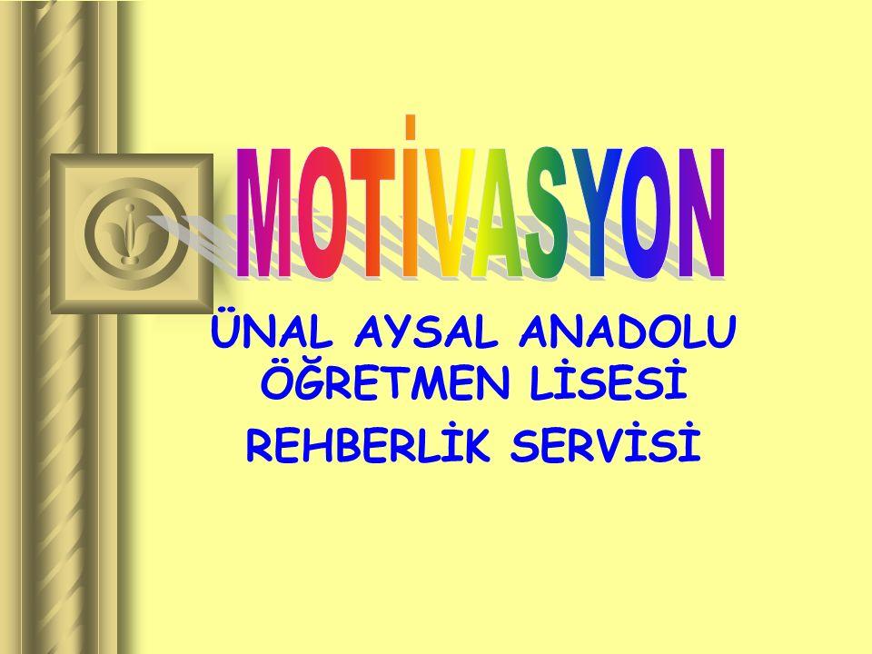 . ÜNAL AYSAL ANADOLU ÖĞRETMEN LİSESİ REHBERLİK SERVİSİ