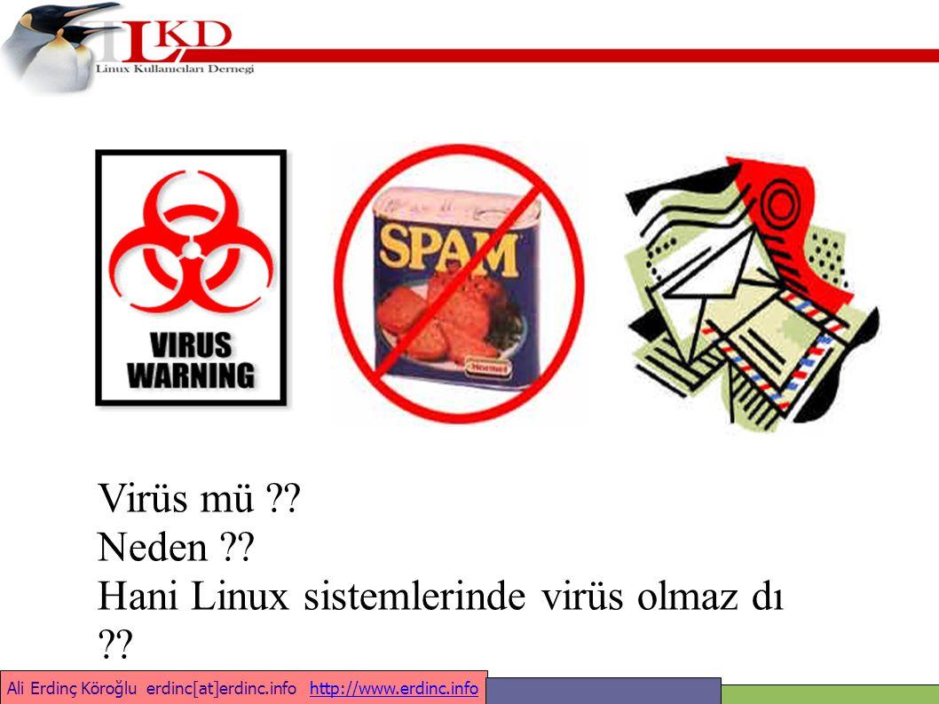 Ali Erdinç Köroğlu erdinc[at]erdinc.info http://www.erdinc.infohttp://www.erdinc.info Virüs saldırısı anında yaşananlar
