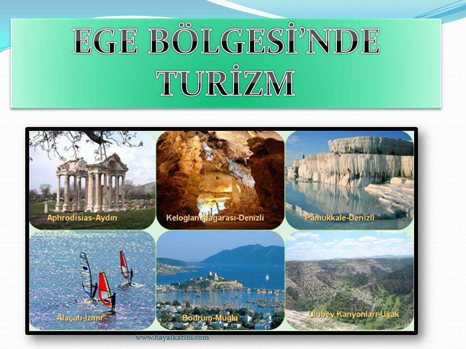 Ege Bölgesi turizm potansiyeli olarak Türkiye de Akdeniz Bölgesinden sonra gelmektedir.