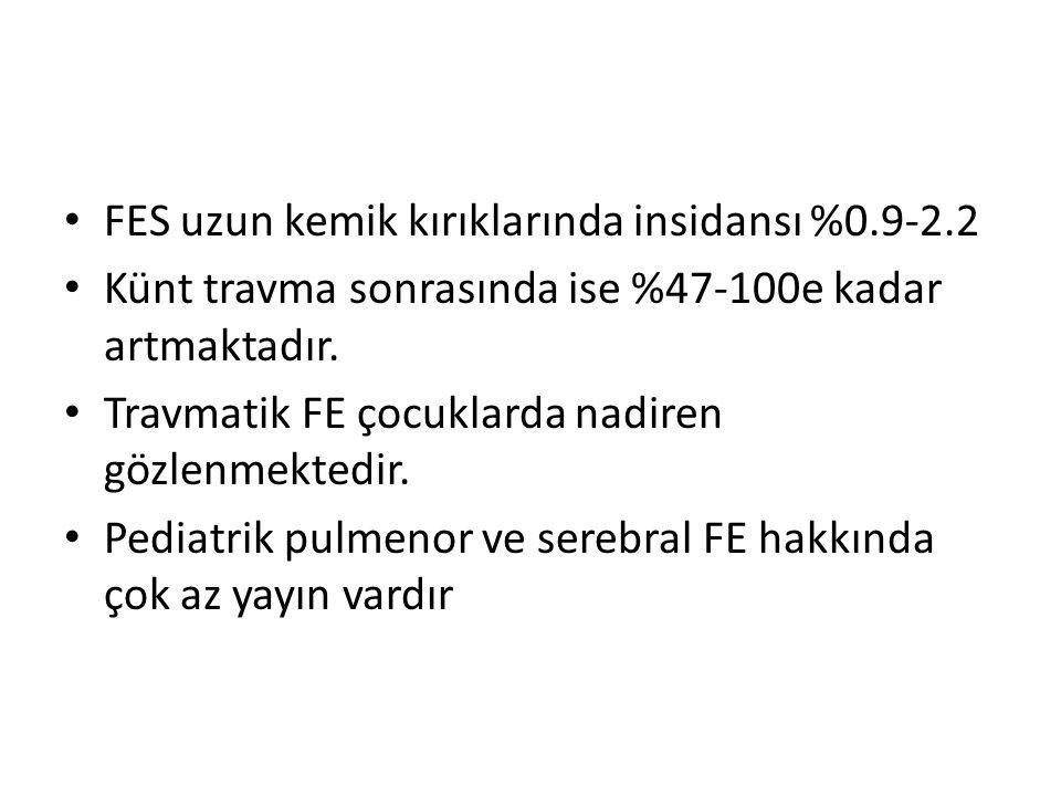 PFEli hastaların özellikleri: