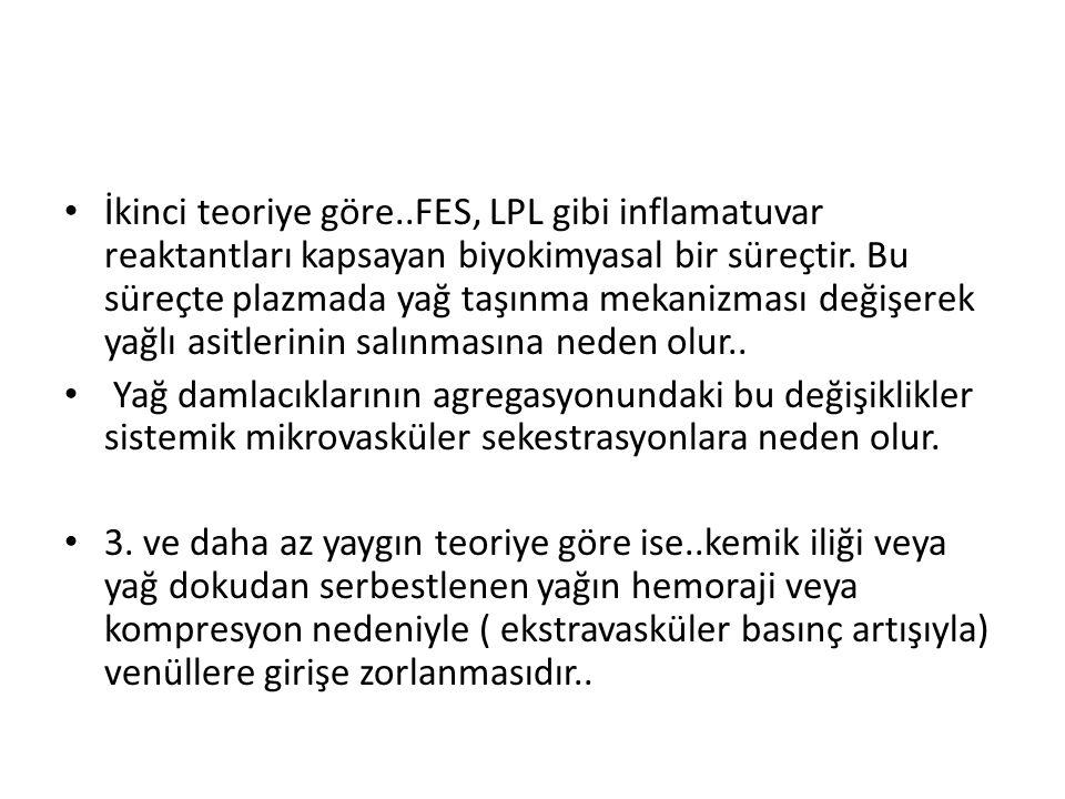 İkinci teoriye göre..FES, LPL gibi inflamatuvar reaktantları kapsayan biyokimyasal bir süreçtir.