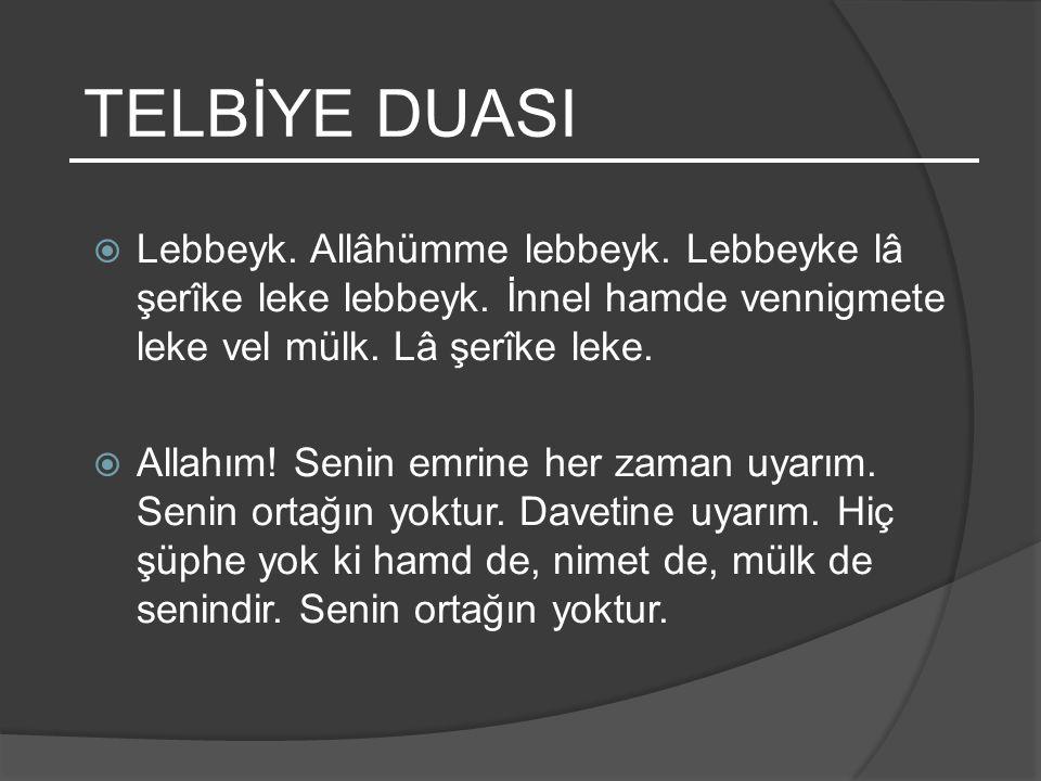 KÂBE HHz.İbrahim ve oğlu Hz. İsmail (as) tarafından yapılmıştır.