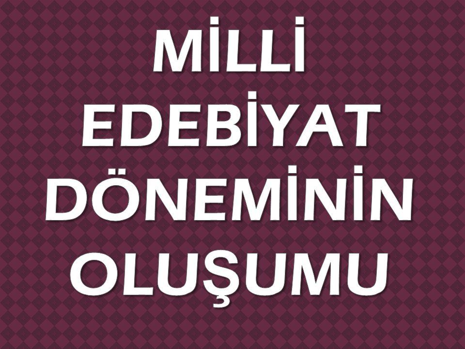  Osmanlının yıkılı ş ına do ğ ru devleti ve milleti kurtarmak için birtakım fikir akımları olu ş mu ş tur.