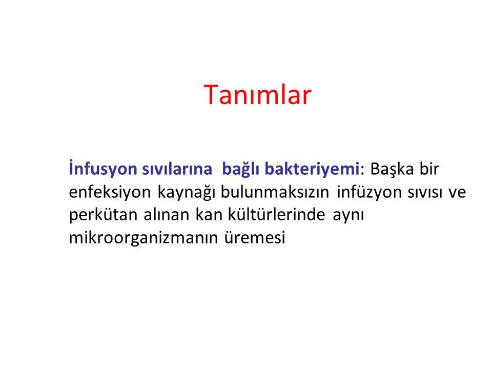 Santral venöz kateterler Tünelli kateterlerin enfeksiyonu azalttığına dair kanıt yok.
