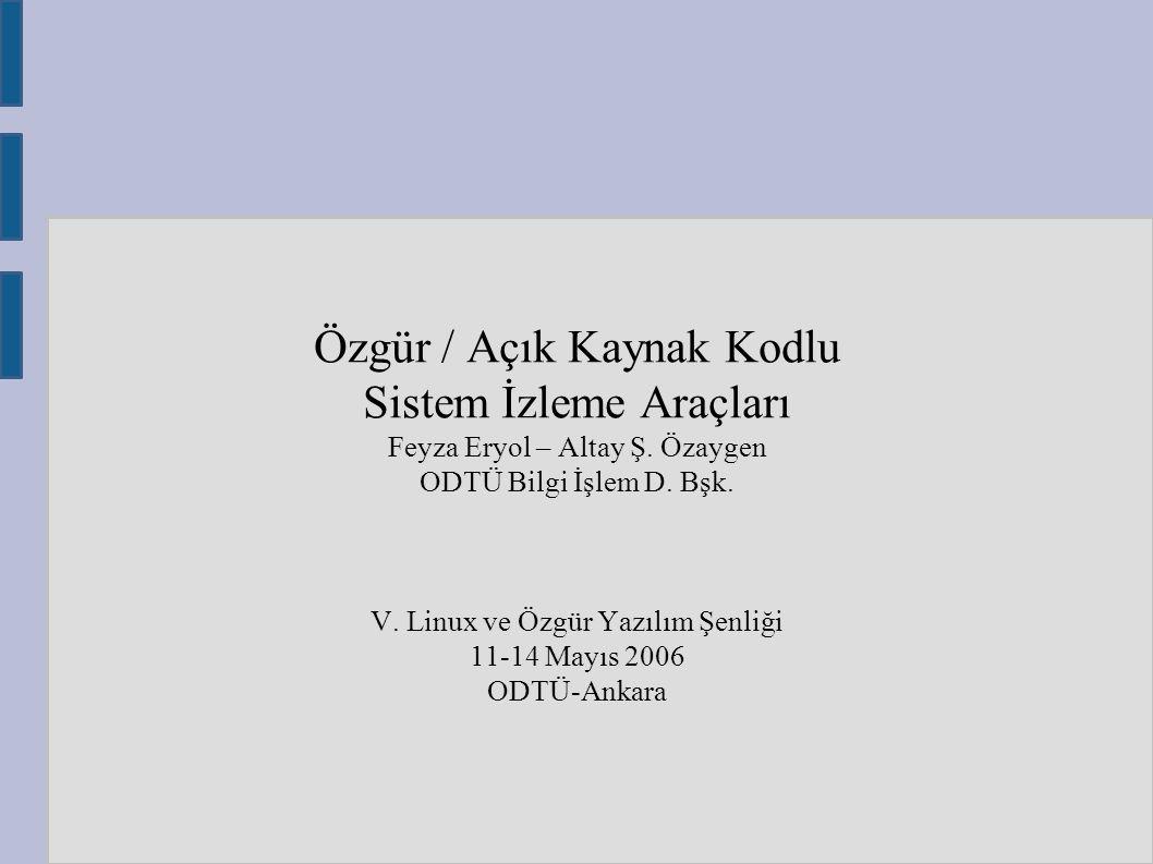 Özgür / Açık Kaynak Kodlu Sistem İzleme Araçları Feyza Eryol – Altay Ş.