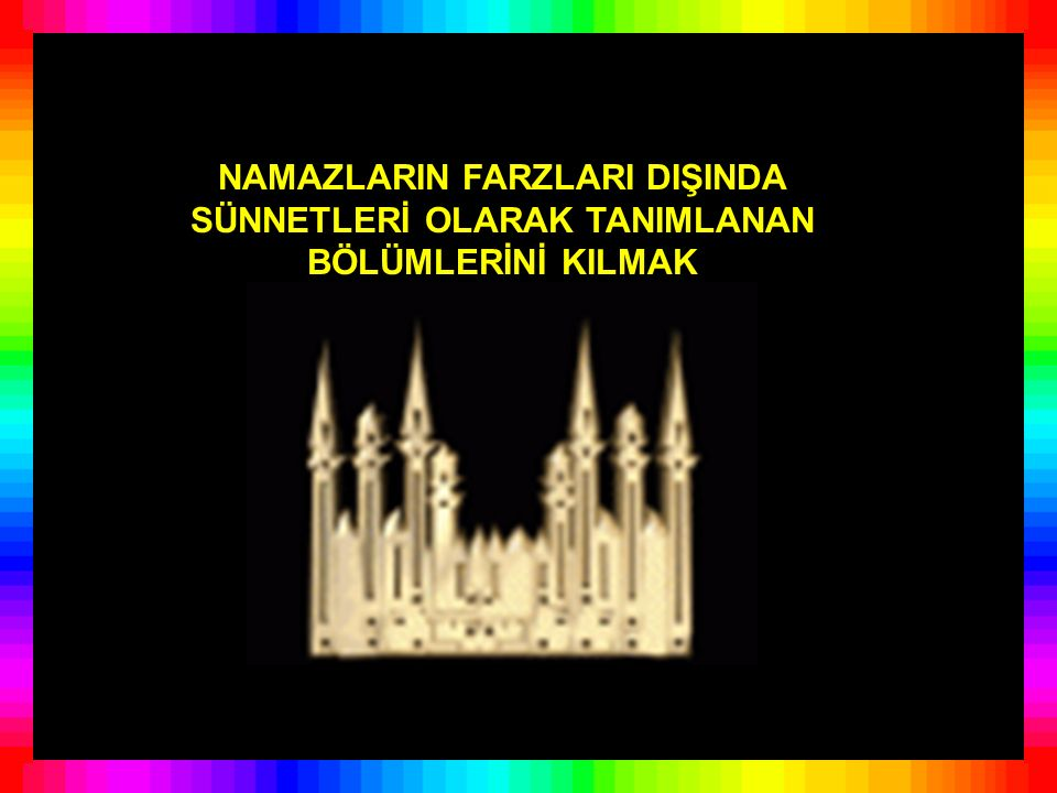RESULULLAH'IN KUR'ANDA EMİR BUYURULAN HÜKÜMLER DIŞINDA YAPTIĞI DAVRANIŞLARDANSÜNNETLERDENÖRNEKLER FİİLÎ SÜNNET www.behcetoloji.com Behçet Gündüz İzmir