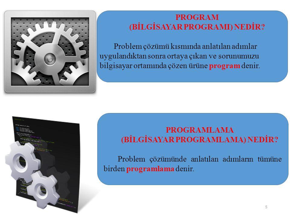 Karşılaştırma Sembolü Programın akışını bir karşılaştırmanın sonucuna göre değiştirmek için kullanılır.