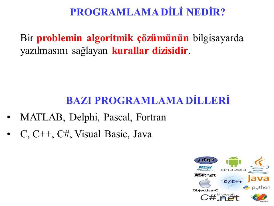 ALGORİTMA Algoritma, herhangi bir sorunun çözümü için izlenecek yol anlamına gelmektedir.