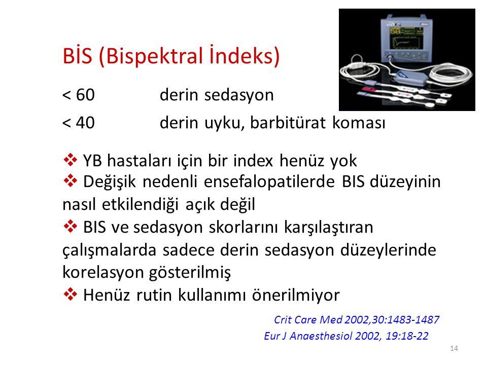15 Her YBÜ Sedasyon Protokolünü Oluşturmalı.