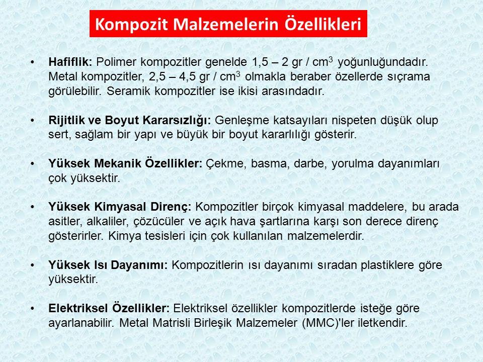 Matris: - Sınıflandırma: MMC, CMC, PMC metalseramikpolimer Takviye: -- Amaç: matris özelliklerini iyileştirmek.