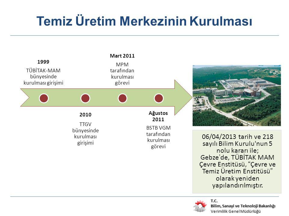 T.C. Bilim, Sanayi ve Teknoloji Bakanlığı Verimlilik Genel Müdürlüğü Temiz Üretim Merkezinin Kurulması 06/04/2013 tarih ve 218 sayılı Bilim Kurulu'nun