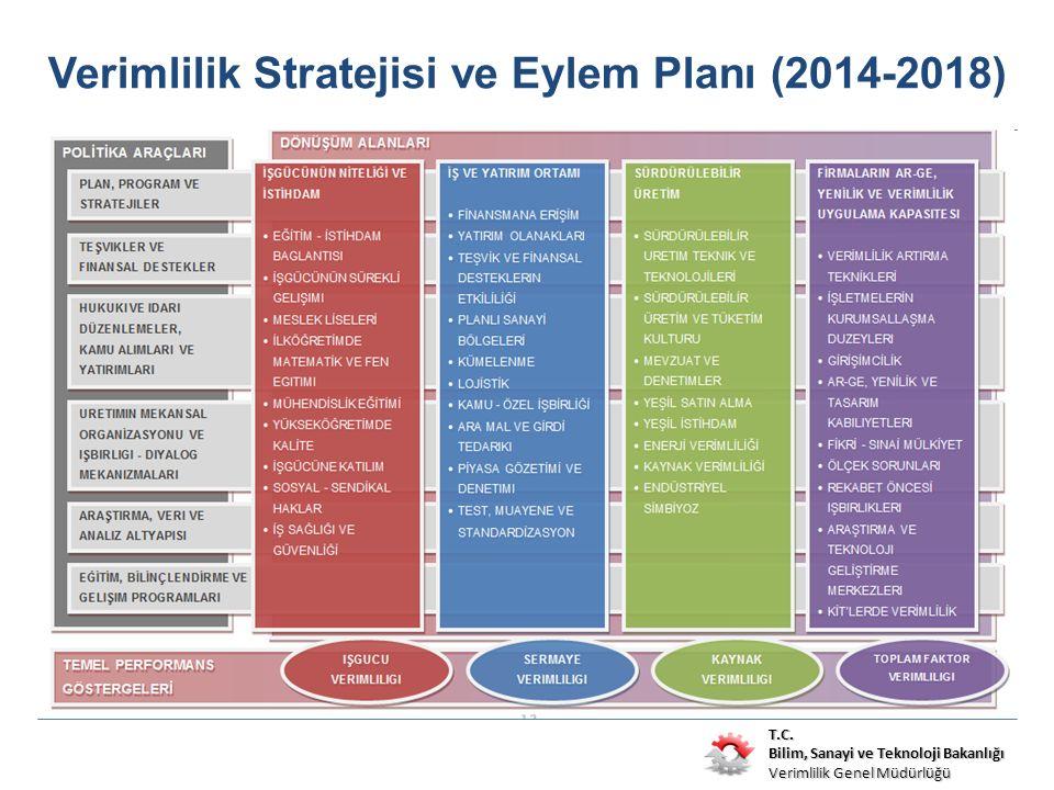 T.C. Bilim, Sanayi ve Teknoloji Bakanlığı Verimlilik Genel Müdürlüğü Verimlilik Stratejisi ve Eylem Planı (2014-2018)