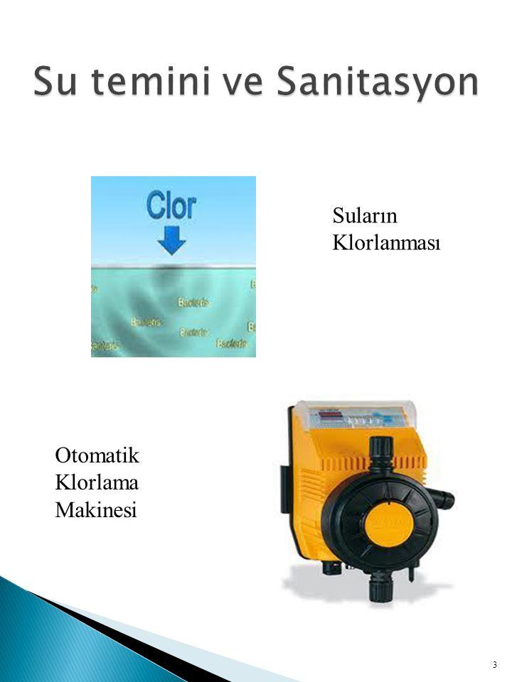  Temiz su: Patojen mikroorganizmaları ve zararlı kimyasalları içermeyen sulardır.