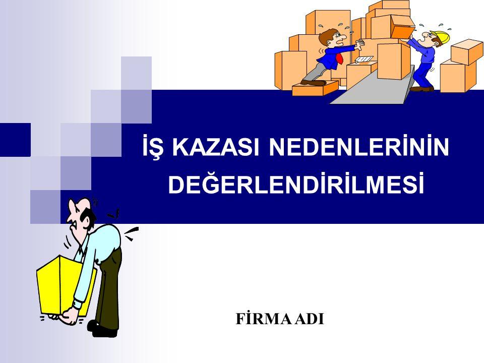 İŞ KAZASI NEDENLERİNİN DEĞERLENDİRİLMESİ FİRMA ADI