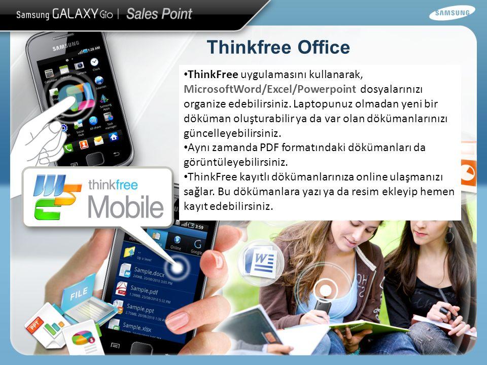 Thinkfree Office ThinkFree uygulamasını kullanarak, MicrosoftWord/Excel/Powerpoint dosyalarınızı organize edebilirsiniz.