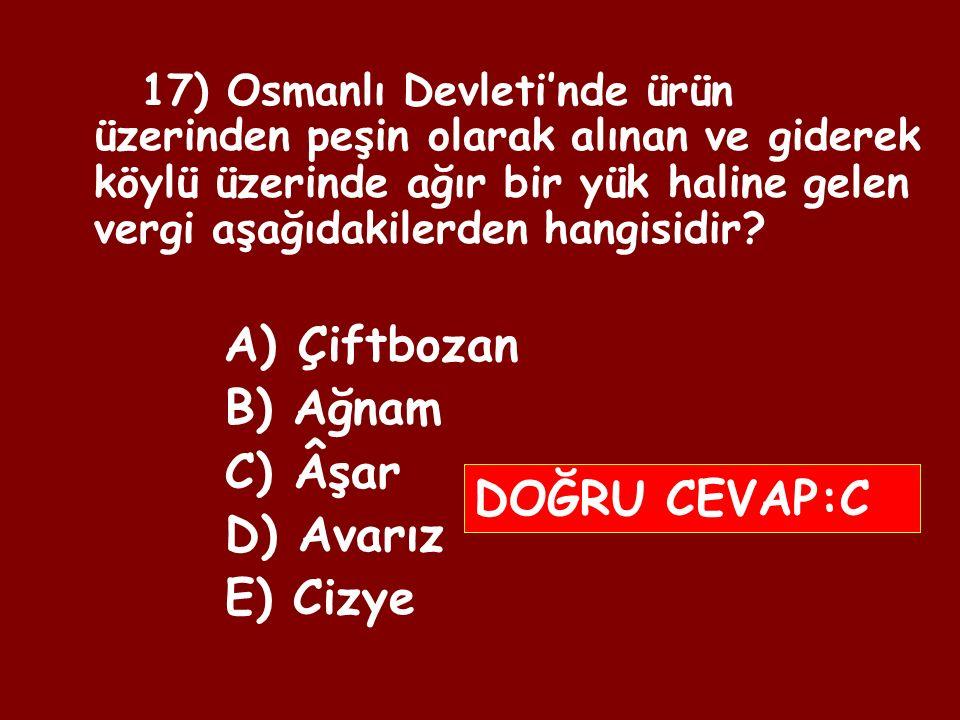 16) Aşağıdakilerden hangisi, Osmanlı Devleti'nde dirlik sistemiyle ulaşılmak istenen hedeflerden biri değildir.