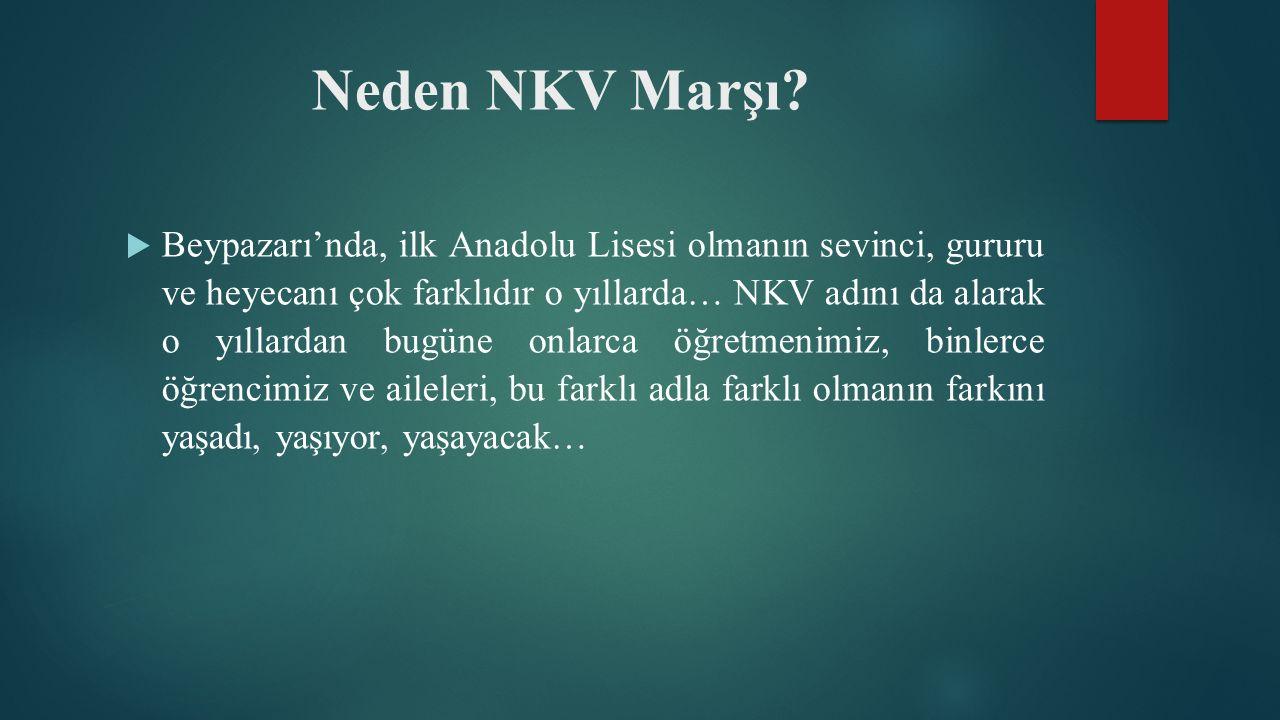 Neden NKV Marşı.
