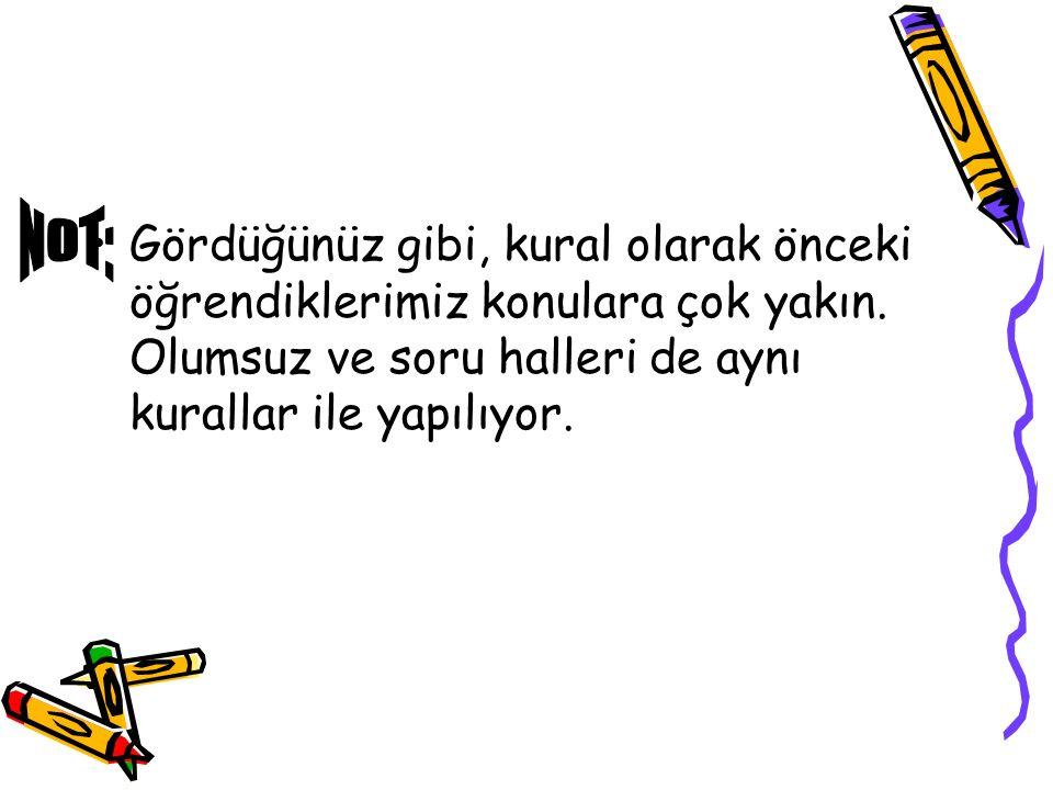 Ahmet and Ayşe write a letter. (Ahmet ve Ayşe mektup yazarlar.)