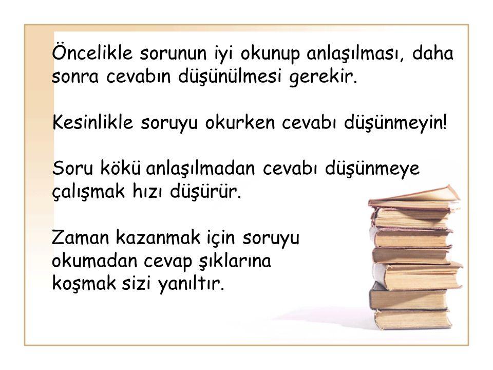 Okuma amacınızın olması okuma hızınızı arttıracaktır.