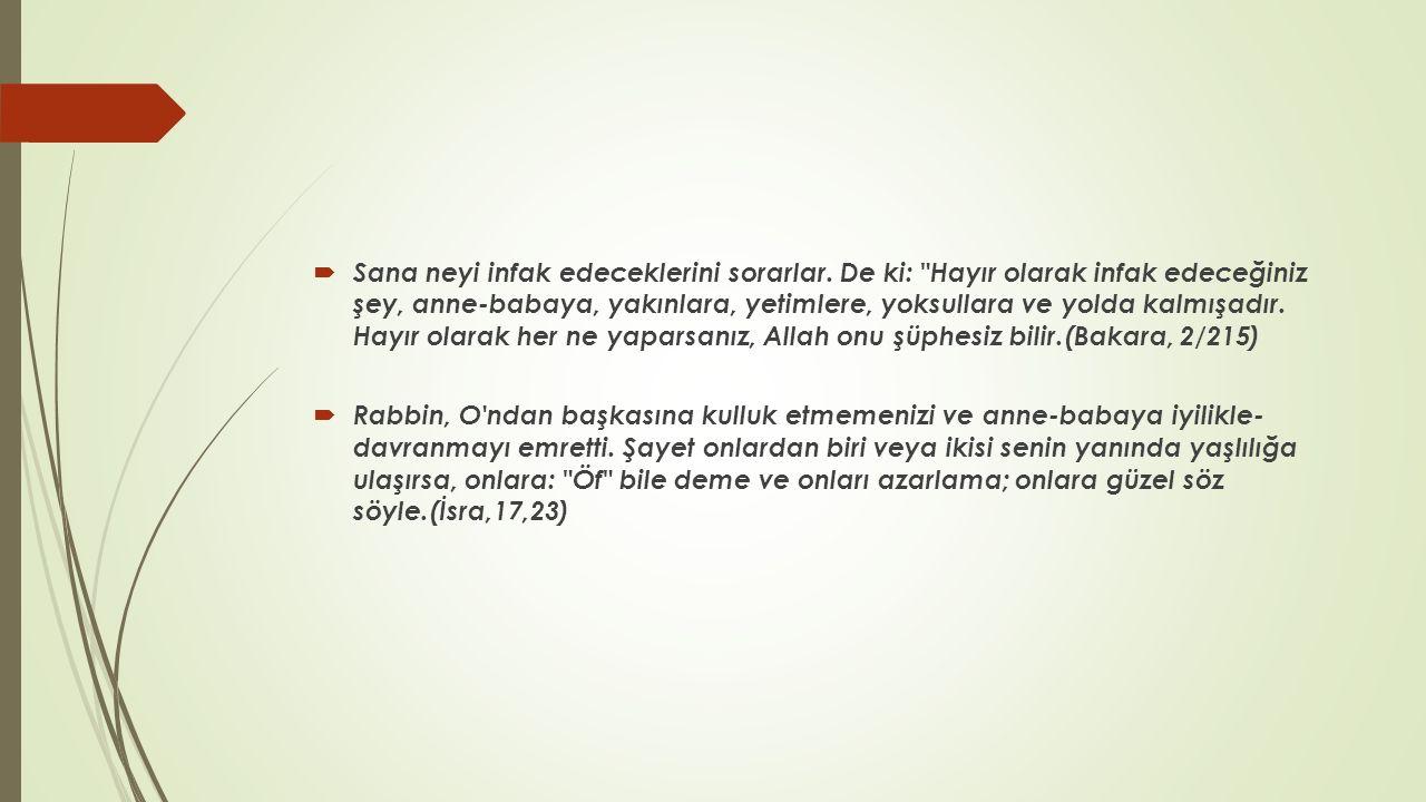  Numan bin Beşir anlatıyor: Bir gün Ebu Bekir (ra) Hz.