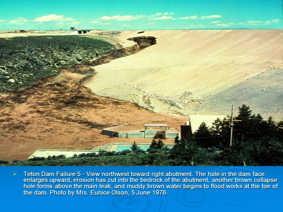 Teton Dam Failure 5 - View northwest toward right abutment.