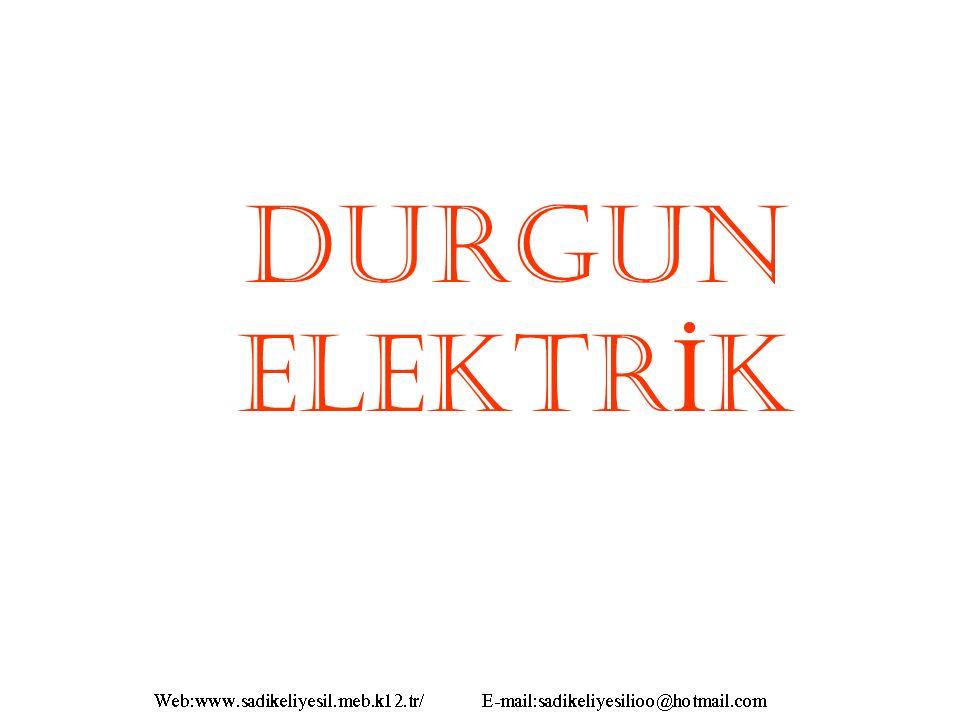1.Sürtünme ile Elektriklenme Cam çubuk ipek kumaşa sürtülürse, camdan ipeğe elektron geçişi olur.