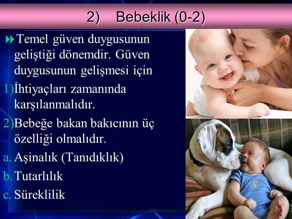 1)Doğum Öncesi  Anne karnındaki bebek annenin beslenmesinin yanında fiziksel ve sosyal çevreden etkilenir.
