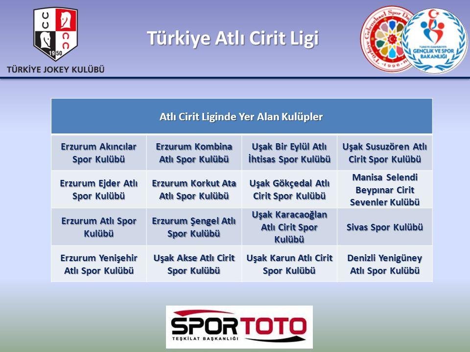 Türkiye Atlı Cirit Ligi Atlı Cirit Liginde Yer Alan Kulüpler Erzurum Akıncılar Spor Kulübü Erzurum Kombina Atlı Spor Kulübü Uşak Bir Eylül Atlı İhtisa