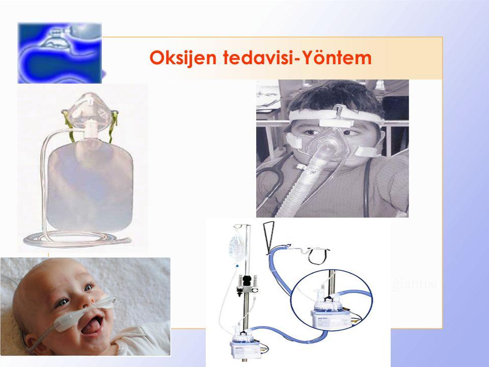 Maske Oksijen bağlantısı Oksijen tedavisi-Yöntem
