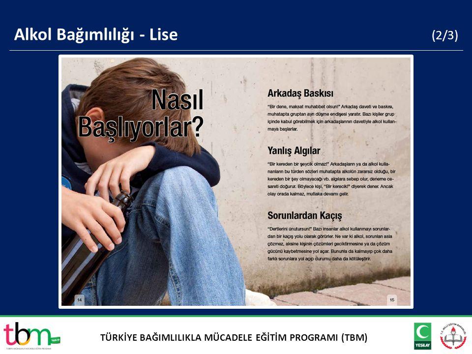 (2/3) Alkol Bağımlılığı - Lise TÜRKİYE BAĞIMLILIKLA MÜCADELE EĞİTİM PROGRAMI (TBM)