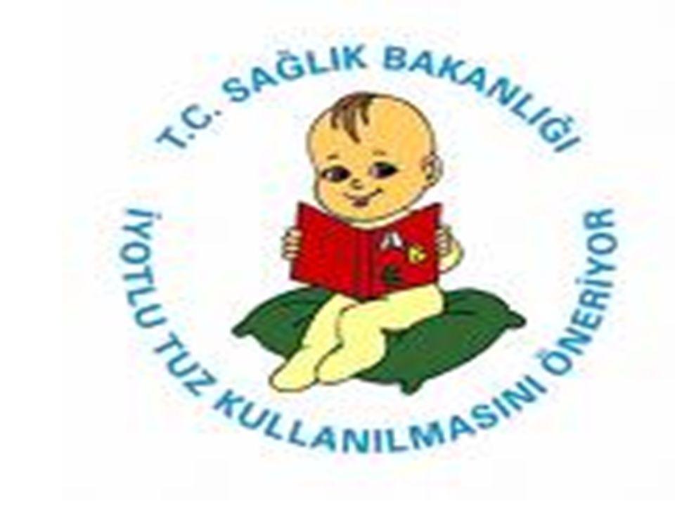 UNİCEF' e göre dünyada 20 milyon çocuk iyot yetersizliğine bağlı beyin özürlüdür.