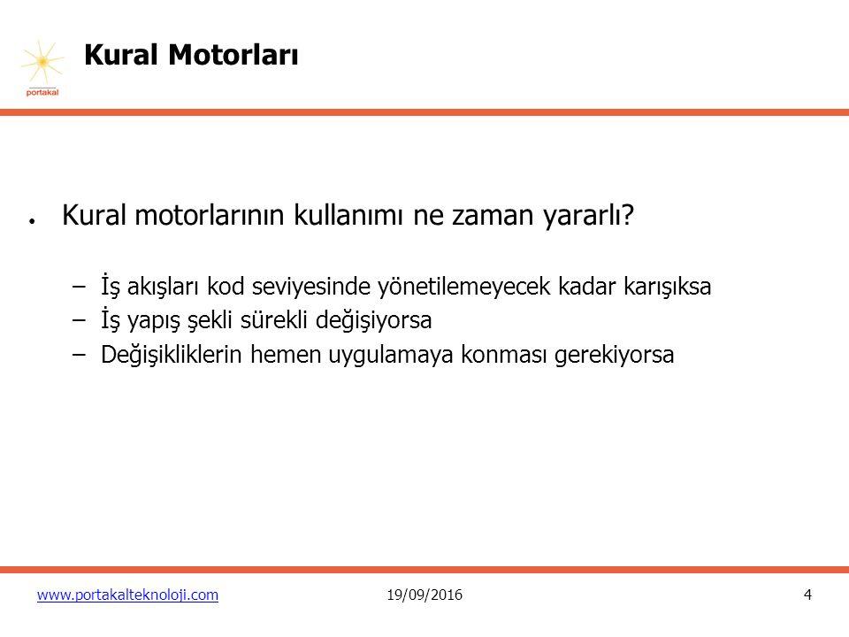 4 www.portakalteknoloji.com19/09/2016 Kural Motorları ● Kural motorlarının kullanımı ne zaman yararlı.