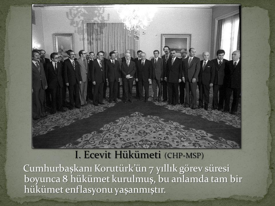 I. Ecevit Hükümeti (CHP-MSP) I.
