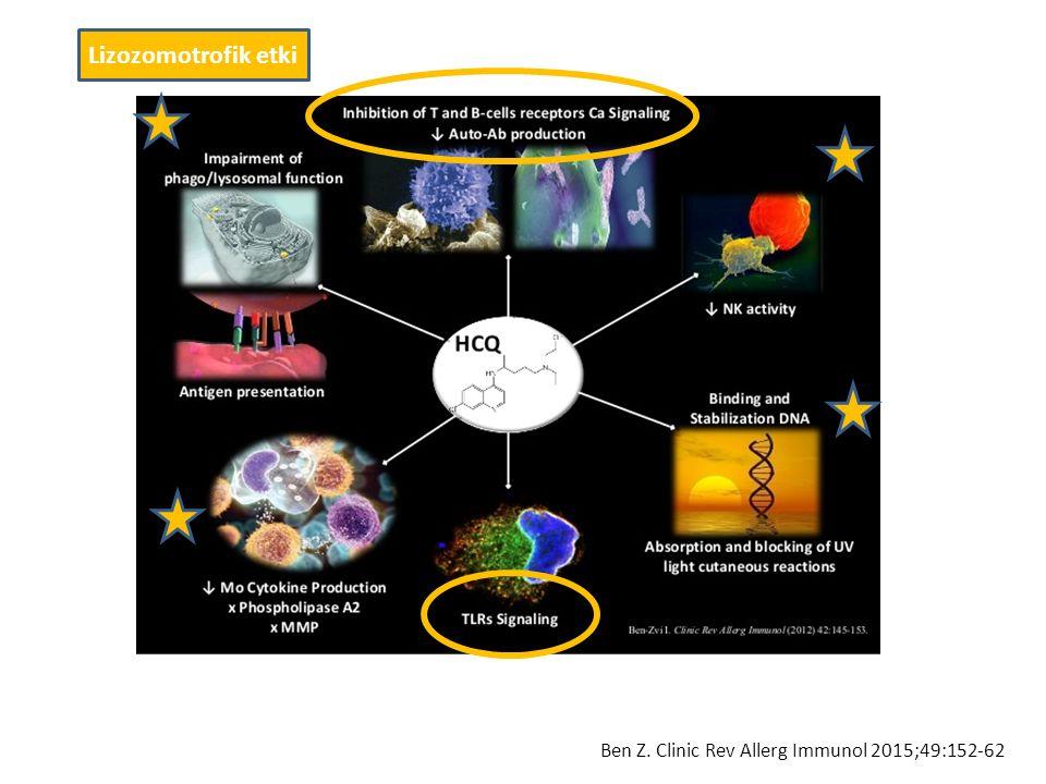 Lizozomotrofik etki Ben Z. Clinic Rev Allerg Immunol 2015;49:152-62