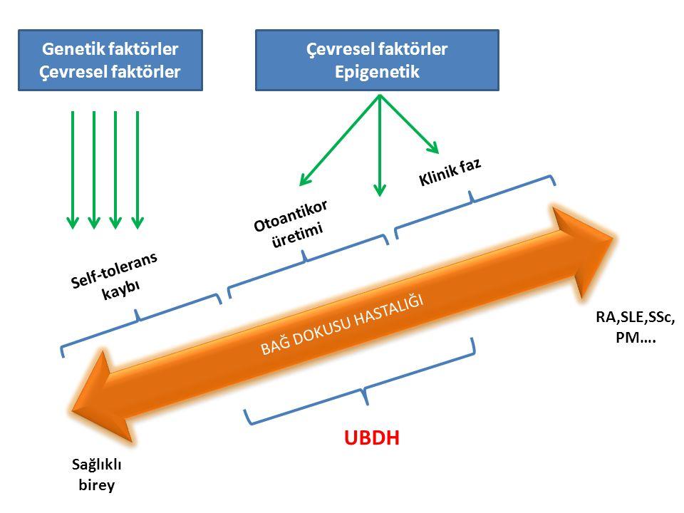 I.Stabil UCTD-Klinik Bulgular Yazar, Yıl NHastalık Süresi (Ort.
