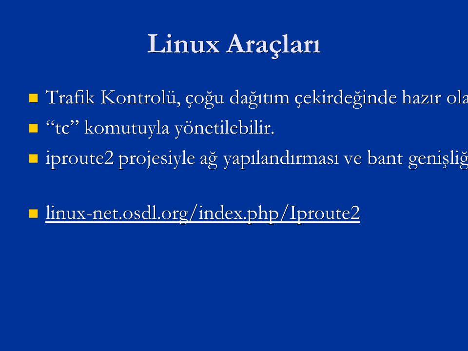 Linux Araçları Trafik Kontrolü, çoğu dağıtım çekirdeğinde hazır olarak gelir.